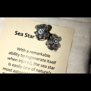 PANDORA sea star charm, aquamarine